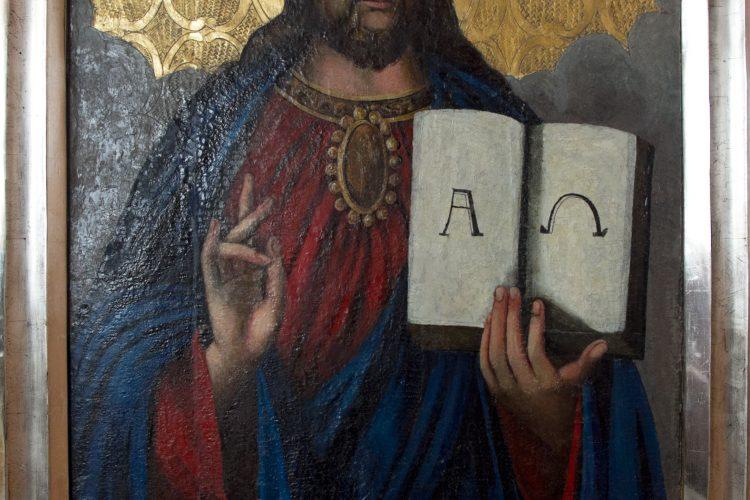 Konserwacja ikony Chrystusa