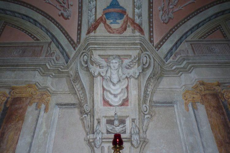 Polichromia w pomieszczeniu chóru zakonnego Braci Mniejszych Kapucynów w Krośnie